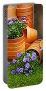 Terracotta Flower Pots Portable Battery Charger