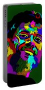 Terrence Mckenna Portrait Portable Battery Charger