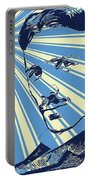 Tesla Pop Art Poster Portable Battery Charger