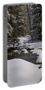 Teton River In Winter Portable Battery Charger