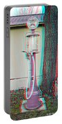Texaco Gas Pump - Use Red-cyan 3d Glasses Portable Battery Charger