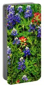 Texas Bluebonnets And Indian Paintbrush Portable Battery Charger