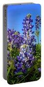 Texas Bluebonnets Backlit II Portable Battery Charger