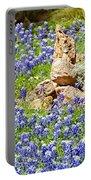 Texas Bluebonnets Portable Battery Charger