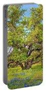 Texas Bluebonnets Under A Giant Oak Tree Portable Battery Charger