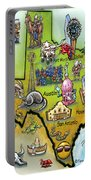 Texas Cartoon Map Portable Battery Charger