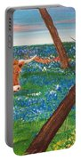 Texas Cow's Blulebonnet Field Portable Battery Charger