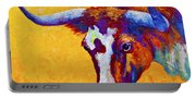 Texas Longhorn Cow Study Portable Battery Charger
