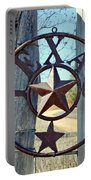 Texas Star Rustic Iron Sign Portable Battery Charger