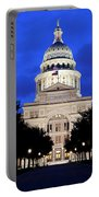 Texas State Capitol Floodlit At Night, Austin, Texas - Stock Image Portable Battery Charger