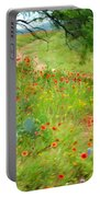 Texas Wildflowers And Cactus - Country Road Portable Battery Charger