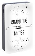 Text Art Enjoy The Little Things Portable Battery Charger