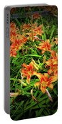 Texture Drama Field Of Tiger Lilies Portable Battery Charger