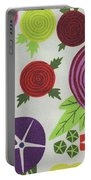 Texture Of Colored Fabric Portable Battery Charger