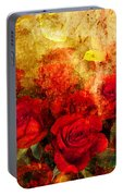 Texture Roses Portable Battery Charger