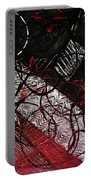 Textured Abstract Art Portable Battery Charger