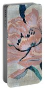 Textured Floral No.2 Portable Battery Charger by Writermore Arts