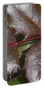 Textured Leaves Portable Battery Charger