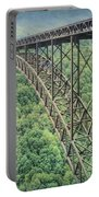 Textured New River Gorge Bridge Portable Battery Charger