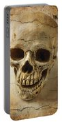 Textured Skull Portable Battery Charger