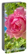 Thank You For Thinking Of Me- Rose Portable Battery Charger