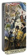 Thanksgiving Cartoon, 1869 Portable Battery Charger