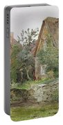 Thatched Cottages And Cottage Gardens Portable Battery Charger by John Fulleylove
