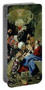 The Adoration Of The Kings Portable Battery Charger by Fray Juan Batista Maino