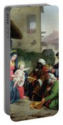 The Adoration Of The Magi Portable Battery Charger by Jean Pierre Granger
