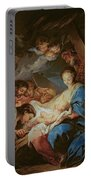 The Adoration Of The Shepherds Portable Battery Charger by Charle van Loo