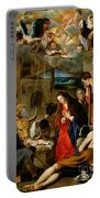 The Adoration Of The Shepherds Portable Battery Charger by Fray Juan Batista Maino or Mayno