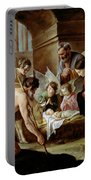 The Adoration Of The Shepherds Portable Battery Charger by Louis Le Nain