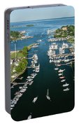 The Aerial View To The Mamaroneck Marina, Westchester County Portable Battery Charger