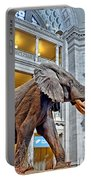 The African Bush Elephant In The Rotunda Of The National Museum Of Natural History Portable Battery Charger