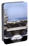 The Aircraft Carrier Uss Dwight D Portable Battery Charger