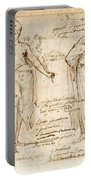 The Allegorical Figures Of Reason And Wisdom  Portable Battery Charger