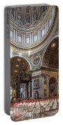 The Altar And Dome In St Peter's Basilica Portable Battery Charger