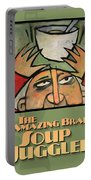 The Amazing Brad Soup Juggler  Poster Portable Battery Charger