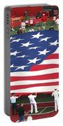 The American Flag Portable Battery Charger by Allen Beatty