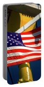 Tribute To The American Flag Oil Industry Portable Battery Charger