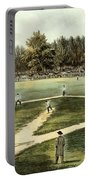 The American National Game Of Baseball Grand Match At Elysian Fields Portable Battery Charger by Currier and Ives
