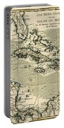 The Antilles And The Gulf Of Mexico Portable Battery Charger by Guillaume Raynal