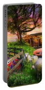 The Appalachian Farm Life In Beautiful Morning Light Portable Battery Charger