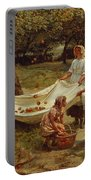 The Apple Gatherers Portable Battery Charger by Frederick Morgan