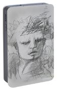 The Archangel Michael By Alice Iordache Original Drawing Portable Battery Charger