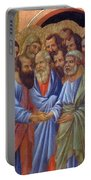The Arrival Of The Apostles To The Virgin Fragment 1311 Portable Battery Charger