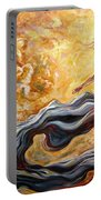 The Arrival Of The Goddess Of Consciousness Portable Battery Charger
