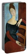 The Artist's Wife Portable Battery Charger by Amedeo Modigliani