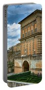 The Back Of The Pitti Palace In Florence Portable Battery Charger