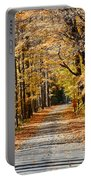The Back Road In Autumn Portable Battery Charger